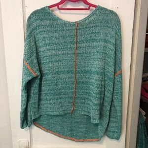 Relais Sweater Blue And Orange Size Small